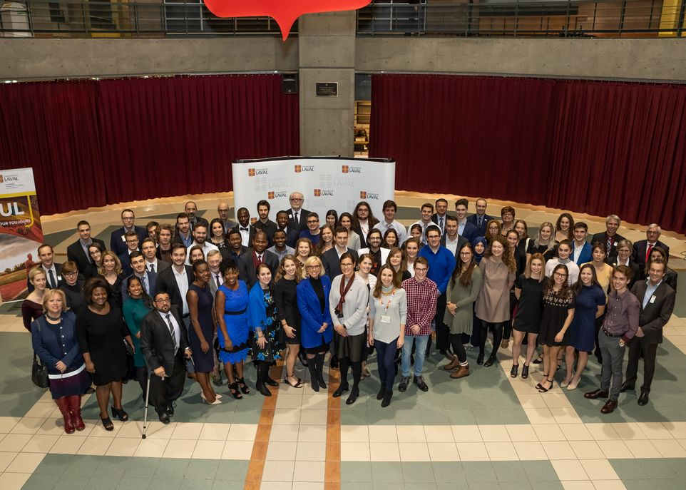 Cérémonie des bourses de leadership et développement durable - Université Laval 2018