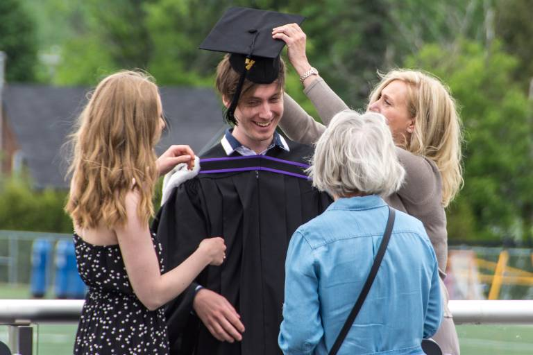 Grad student with parents